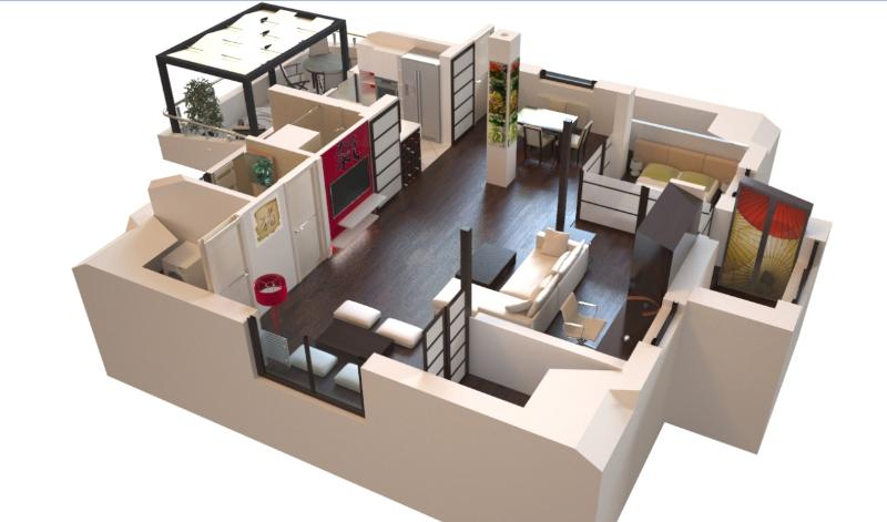 2-dizajn-interijera-uredjenje-doma-u-japanskom-stilu-projekt-interijera-uredjenje interijera potkrovlja